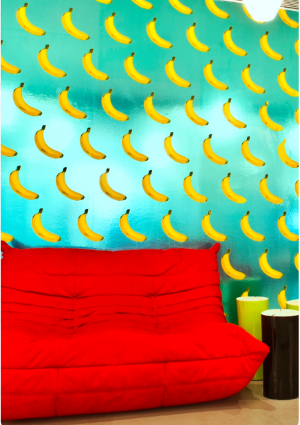 This would never in a million years work anywhere in my house buuuut it does have bananas on it aaaand it's scented. So I'd appreciate it if someone I know could buy this wallpaper so I can come over and smell and admire your walls. Thanks.